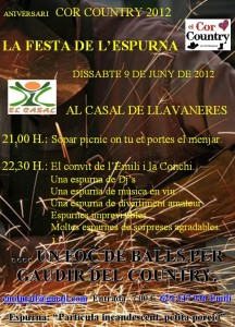 Aniversari-Cor-Country-2012-cartell