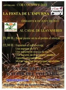 Aniversari-Cor-Country-2013-cartell